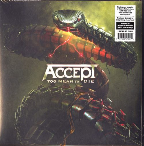 Accept - Too Mean to Die - Ltd Ed, Red w White Splatter, Double Vinyl, Nuclear Blast, 2021