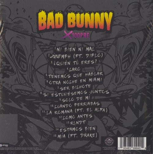 Bad Bunny - X 100PRE - Double Vinyl, LP, Rimas Entertainment, 2019