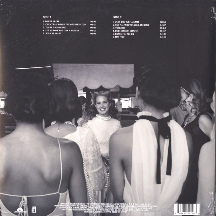 Lana Del Rey - Chemtrails Over The Country Club - Ltd Ed, Yellow, Colored Vinyl, LP, Interscope, 2021