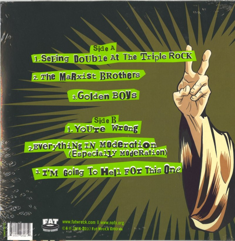 "NOFX - Never Trust A Hippy - 10"", Vinyl, EP, Fat Possum Records, 2021"