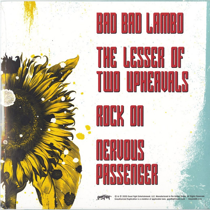 """68 - Love Is Ain't Dead - Limited Edition, 10"""", Yellow / Black Splatter, Good Fight Music, 2021"""