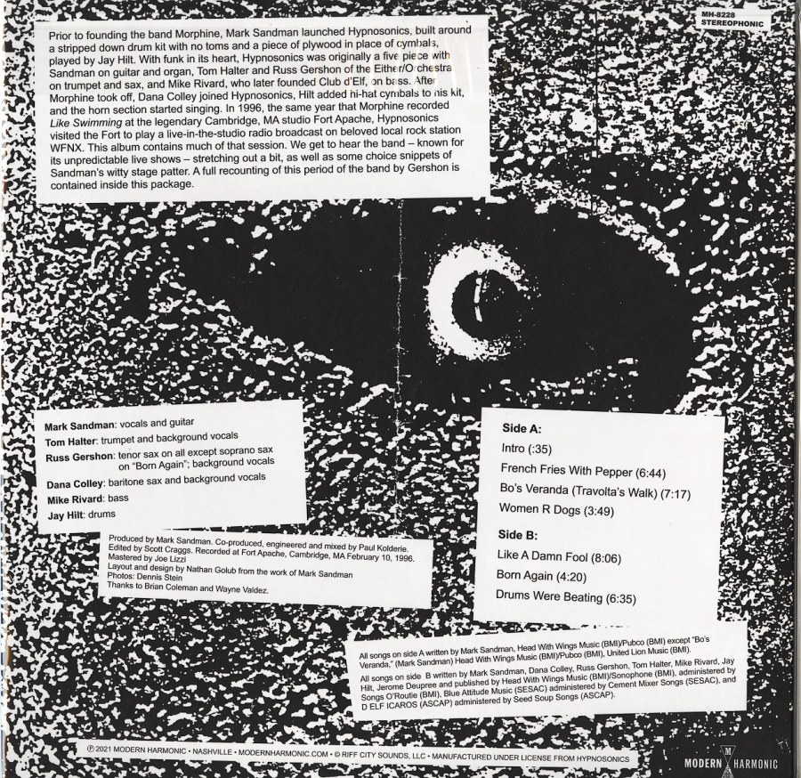 Hynosonics - Drums Were Beating: Fort Apache Studios 1996 - Vinyl, LP, Morphine, Modern Harmonic, 2021