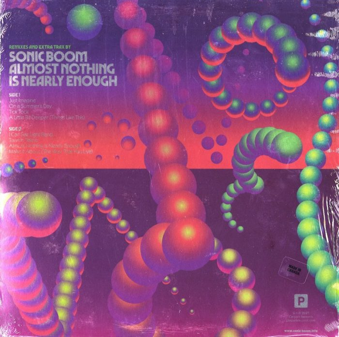 Sonic Boom - Almost Nothing Is Nearly Enough - Ltd Ed, Neon Kandy Vinyl, LP, Carpark, 2021
