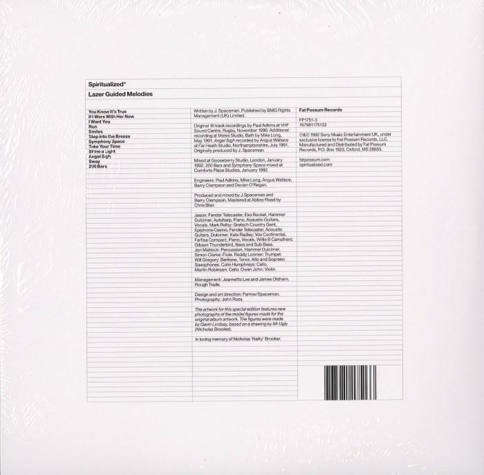 Spiritualized - Lazer Guided Melodies - Ltd Ed, White, Double Vinyl, Fat Possum, 2021