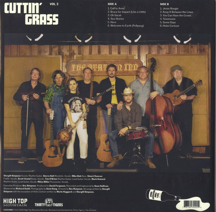 Sturgill Simpson - Cuttin' Grass - Vol. 2 - Ltd Ed, Colored Vinyl, LP, High Top Mountain, 2021