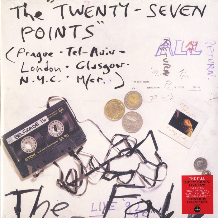 The Fall - Twenty-Seven Points: Live 92-95 - Ltd Ed, Clear, 2XLP, Vinyl, LP, Demon Records, 2021
