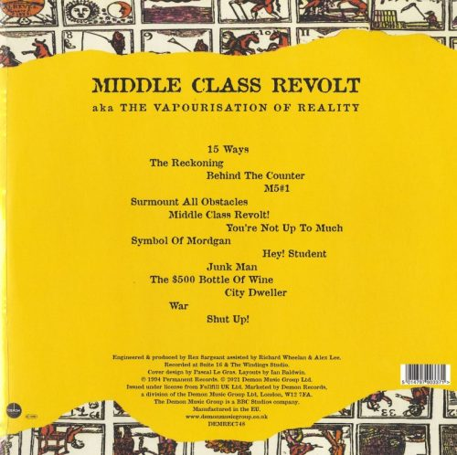 The Fall - Middle Class Revolt - Limited Edition, Clear Vinyl, LP, Demon Records, 2021