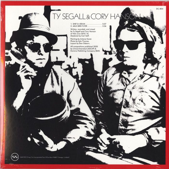 """Ty Segall & Cory Hanson - She's A Beam / Milk Bird Flyer - 10"""", Vinyl, EP, Etched, Drag City, 2021"""