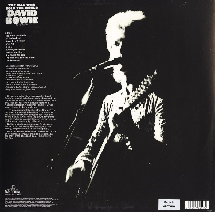 David Bowie - The Man Who Sold The World - Ltd Ed, Vinyl, LP, Picture Disc, Poster, Parlophone, 2021