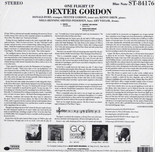 Dexter Gordon - One Flight Up - Vinyl, LP, Resissue, Blue Note, 2021