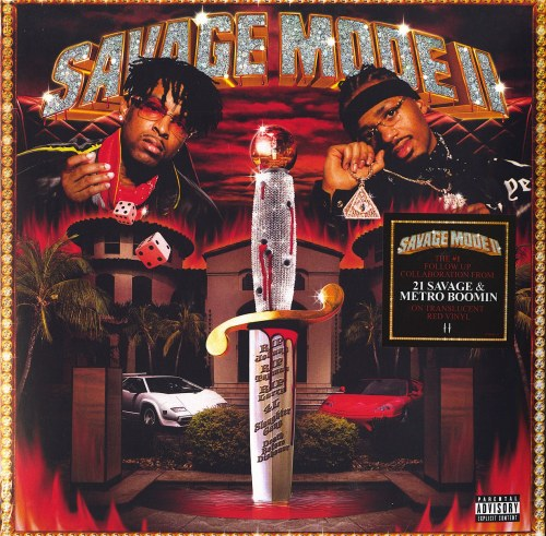 21 Savage & Metro Boomin - Savage Mode II - 140 Gram, Red Vinyl, LP, Epic, 2021
