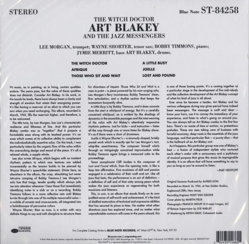 Art Blakey - The Witch Doctor - 180 Gram, Vinyl, LP, Reissue, Blue Note, 2021