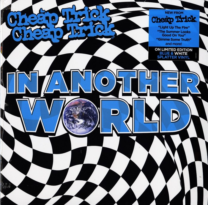 Cheap Trick - In Another World - Limited Edition, Blue and White Splatter Vinyl, LP, BMG, 2021