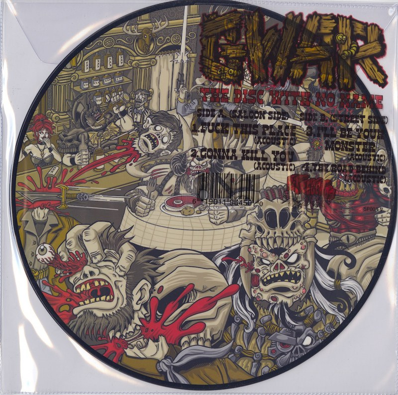 """GWAR - The Disc With No Name - 12"""", Vinyl, EP, Picture Disc, Pit Records, 2021"""