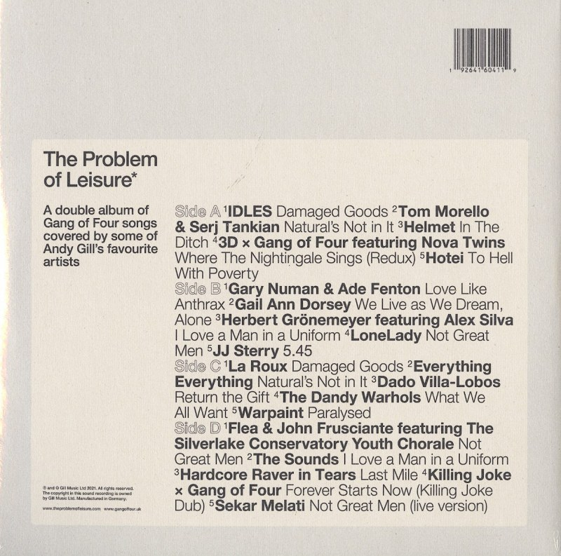 Various Artists - The Problem Of Leisure - Ltd Ed, Yellow Double Vinyl, Gill Music, 2021