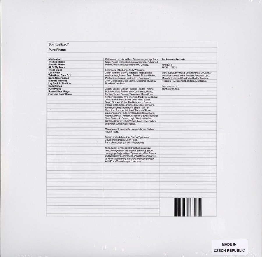 Spiritualized - Pure Phase - Limited Edition, Glow-In-The-Dark, Double Vinyl, LP, Fat Possum Records, 2021