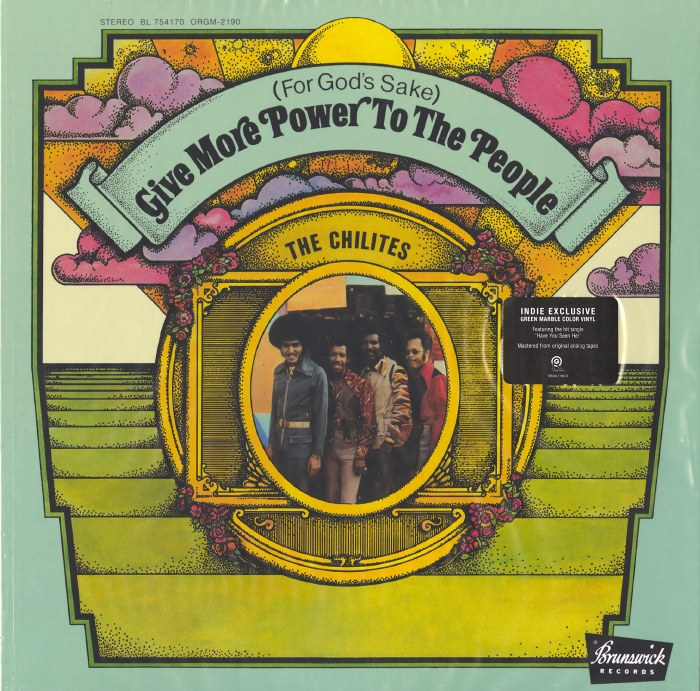 Chi-Lites - (For God's Sake) Give More Power to the People - Ltd Ed, Green Swirl Vinyl, LP, ORG, 2021