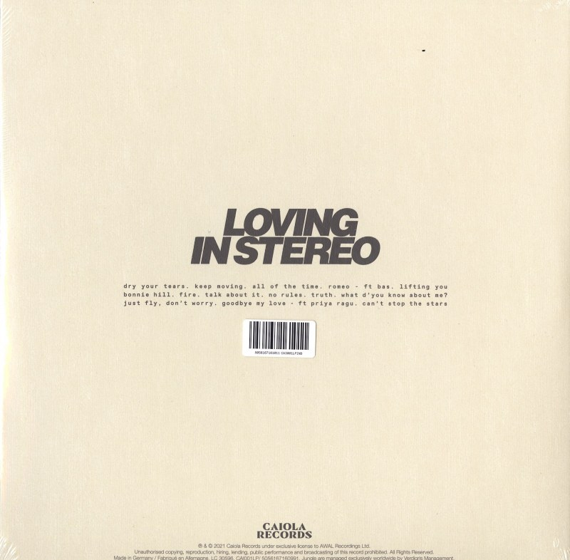 Jungle - Loving In Stereo - Limited Edition, Marble, Colored Vinyl, LP, Caiola Records, 2021
