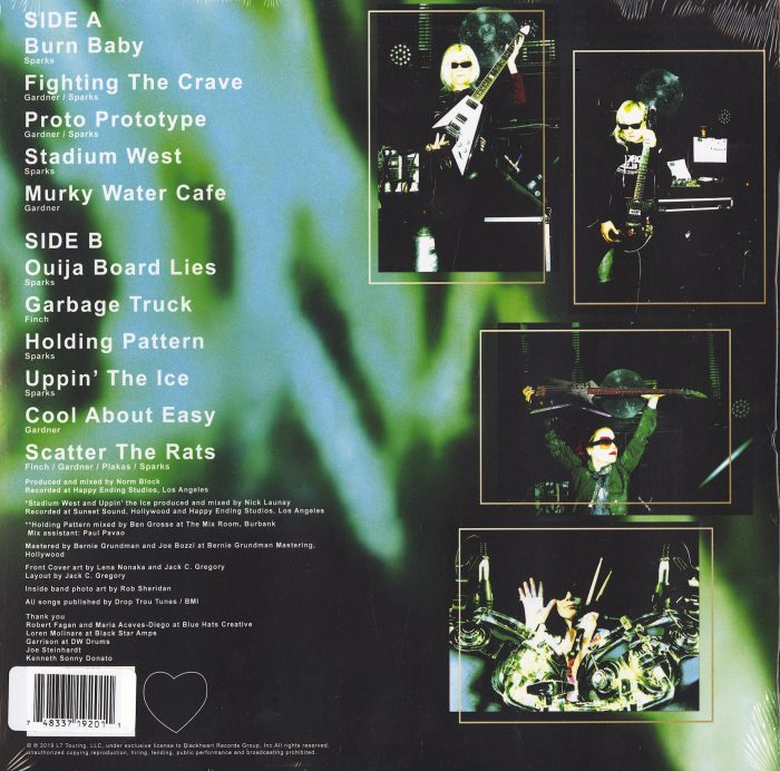 L7 - Scatter The Rats - Limited Edition, Black, White, Gray Vinyl, LP, Blackheart Records, 2021