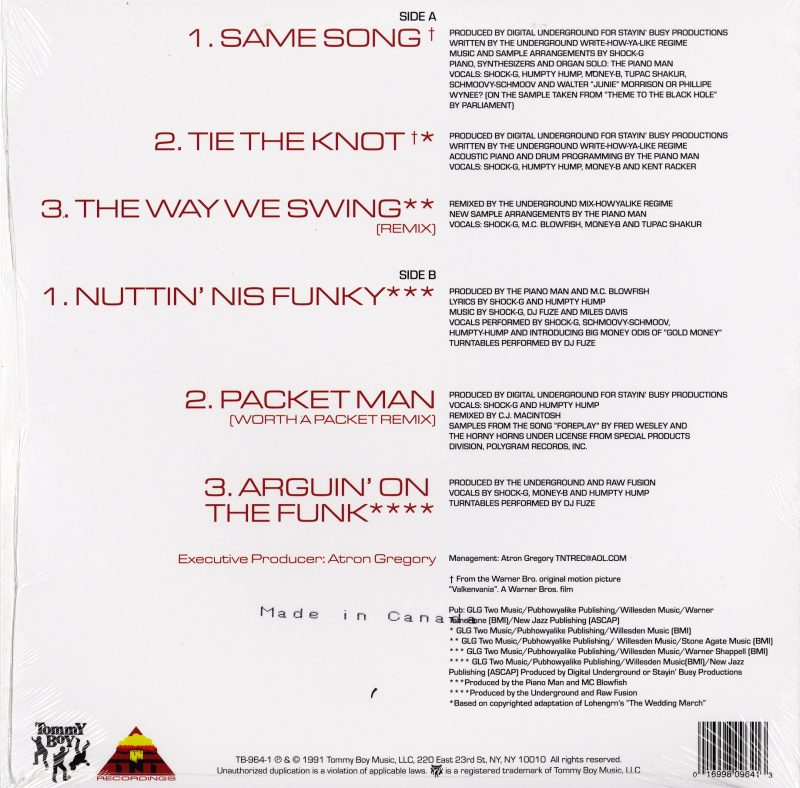 Digital Underground - This is an E.P. Release - Limited Edition, 140 Gram, Vinyl, EP, Tommy Boy Music, 2021