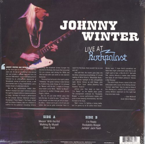 Johnny Winter - Live At Rockpalast - 180 Gram, Vinyl, LP, MVD Audio, 2011