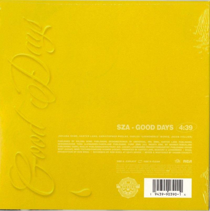 """SZA - Good Days (Explicit) / Good Days (Edit) - Limited Edition, Yellow Vinyl, 10"""", RCA, 2021"""