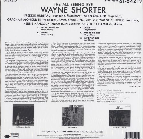Wayne Shorter - The All Seeing Eye - Limited Edition, Tone Poet, Vinyl, LP, Reissue, Blue Note, 2021