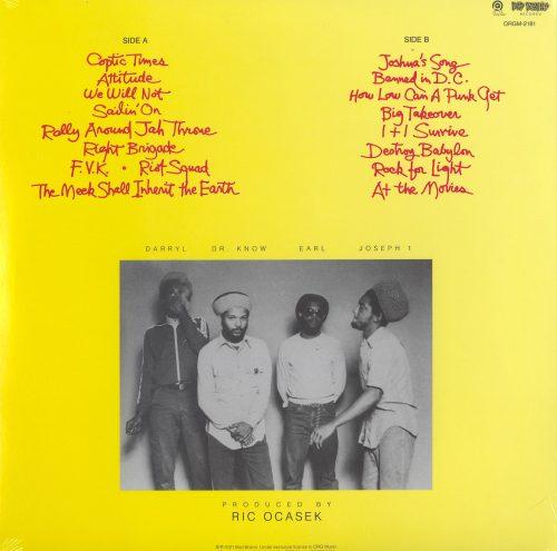 Bad Brains - Rock For Light - Vinyl, LP, Reissue, Org Music, 2021