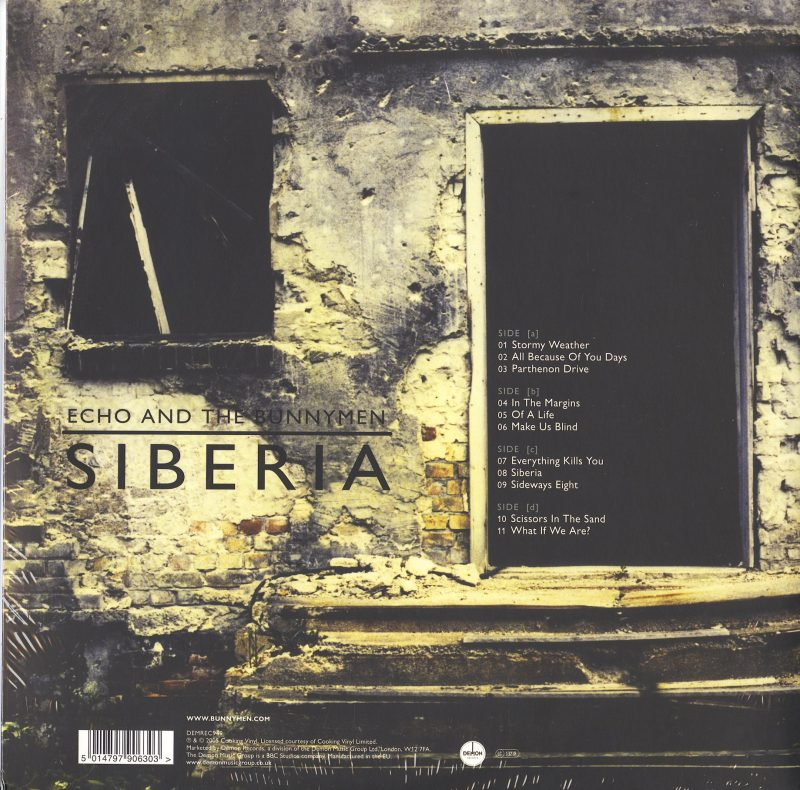 Echo & the Bunnymen - Siberia - Limited Edition, Clear, 2XLP, Demon Records, 2021