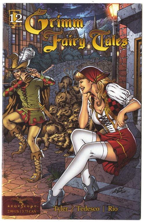 Grimm Fairy Tales #12, The Pied Piper, Zenescope, Al Rio cover, 2007