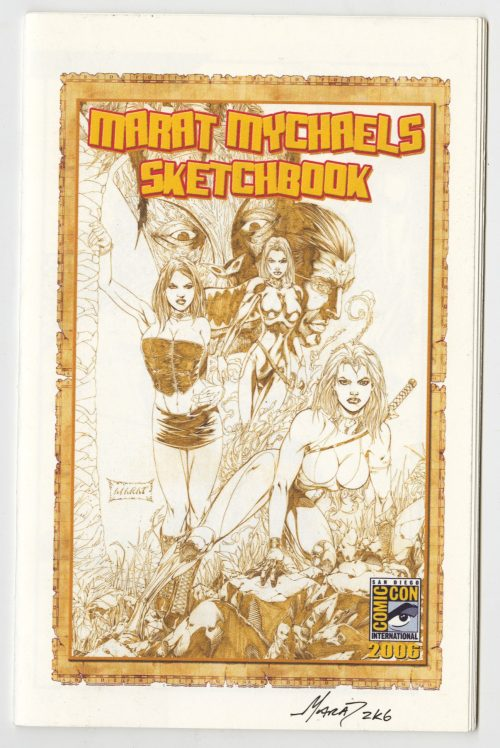 Marat Mychaels, San Diego Comic Con, Sketchbook, Signed, Self-published, 2006