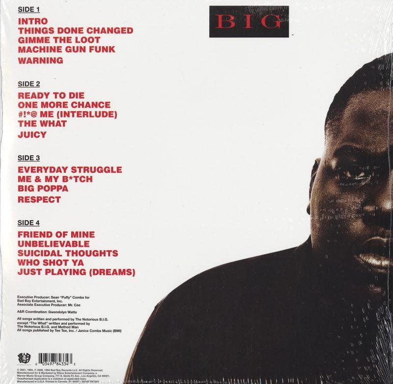 Notorious B.I.G. - Ready To Die - 140 Gram, Double Vinyl, LP, Reissue, Bad Boy, 2021