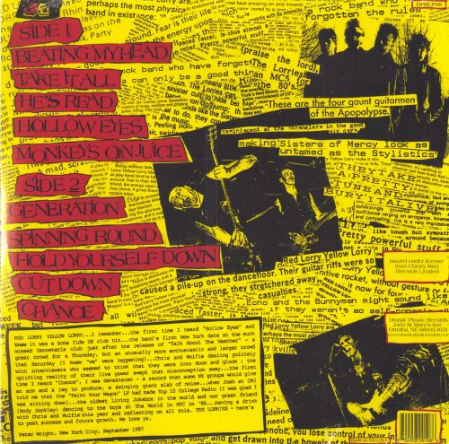 Red Lorry Yellow Lorry - Smashed Hits - Limited Edition, Red and Yellow Vinyl, LP, Drastic Plastic, 2010